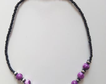 Pearl necklace - African style - several colors available