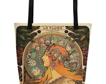 Mystic Queen of Astros Zodiac Vintage Art Tote Bag