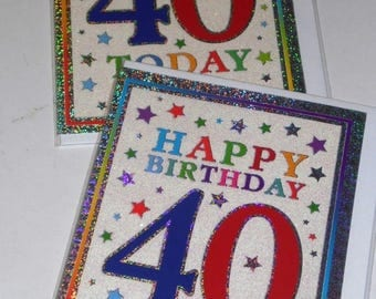 12 cards 40TH BIRTHDAY CARDS, just 35p - We also have birthday cards / christmas cards / thank you cards