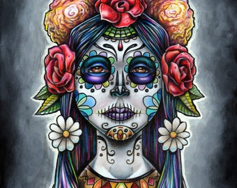 Day of the Dead print 5x7 or 8x10 by Bryan Collins