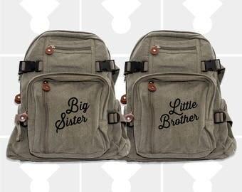 Girls Backpack, Big Sister, Little Brother, Kids Backpack, Diaper Bag Backpack, Backpacks, Small Backpack, School Backpack, Big Sister Gift