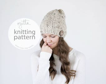 Knitting Pattern / Simple Knit Hat With Wooden Button / THE SASKATCHEWAN Hat