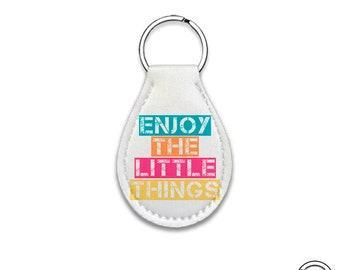Quarter Keeper Enjoy the Little Things Neoprene Cart Quarter Keychain Key Chain Holder Carry Case, Lotto Scratcher case
