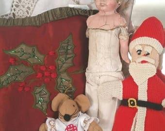 christmas tree ornament, christmas mouse, upcycled mouse toy, little red dress, christmas mouse toy