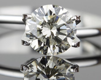 1.15 carat Loose Diamond - Ideal Cut - 6.82mm Round SI1 K - Natural White Diamond - Purchase Loose or Customize - Hearts and Arrows