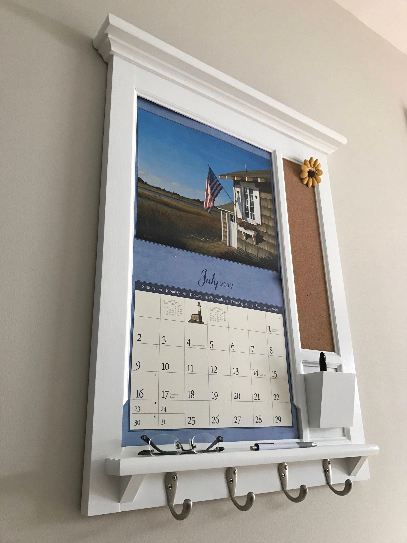 Mid Sized Wall Calendar Frame Front Loading Home Decor Framed