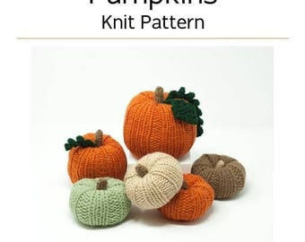 Pumpkins / Knit / Pattern / Halloween / DIY / Decor
