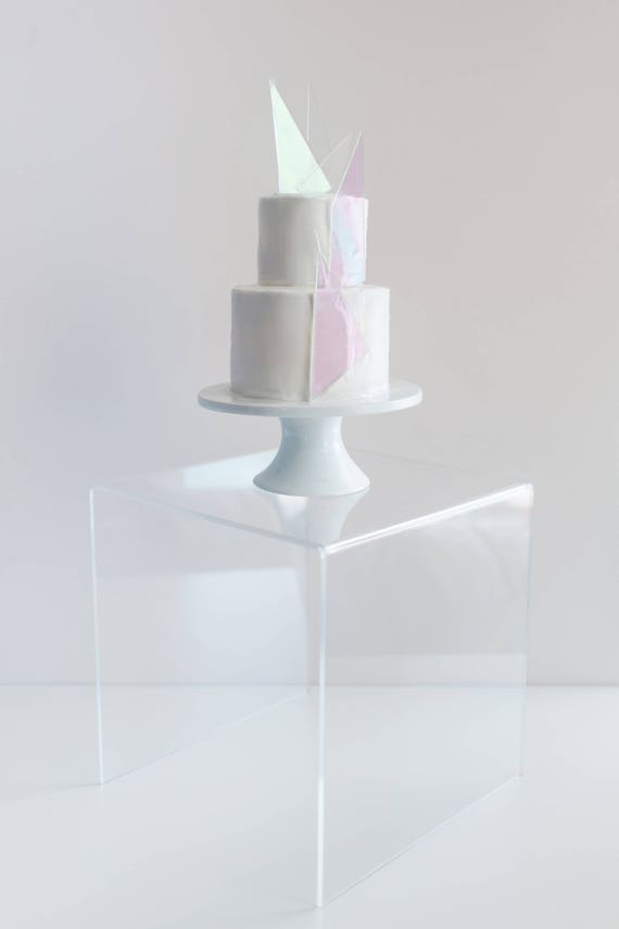 Wedding Cake Stand Clear Stand For Cake Modern Minimalist