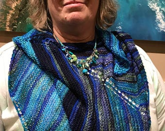 Striped modular Shawlette or Cowl Kit - Hand dyed Yarn and pattern