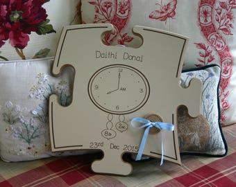Birth Clock Puzzle Board - Personalized - Irish Furniture Store