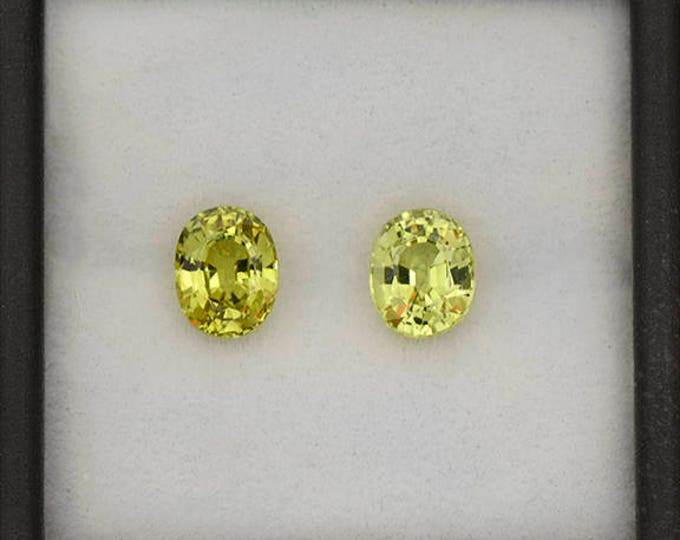 SALE EVENT! Excellent Yellow Green Chrysoberyl Match Pair from Sri Lanka 2.40 cts.