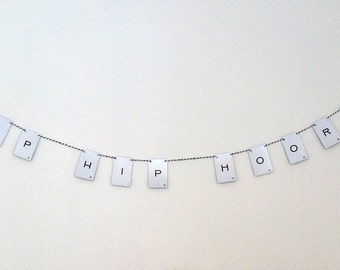 Vintage Playing Cards Hip Hip Hooray Banner Party Decor