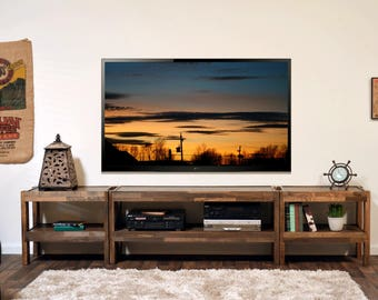 reclaimed wood tv stand pallet wood u0026 barn wood style center presearth spice