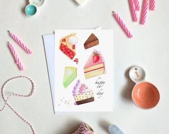 Happy Cake Day - Birthday Card - Single folded card