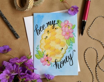 Bee My Honey - Funny Valentine Card - Anniversary Card