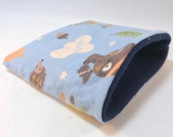 """Small animal snuggle sack sleeping bag 7"""" x 7"""""""