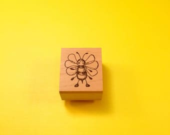Ms. BEE Haven Wood Mount Rubber Stamp by PEDDLER'S PACK Stampworks 1995-1996