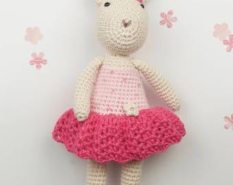 Crochet amigurumi bunny rabbit toy doll