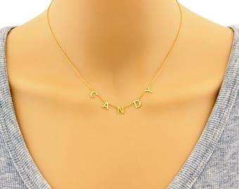 Necklace, Name Necklace, Monogram Necklace, Initial Necklace, Letter Necklace, Personalized Necklace, Dainty Necklace, Signature Necklace