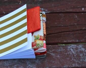 Gold Stripe Fall Mini Altered Journal