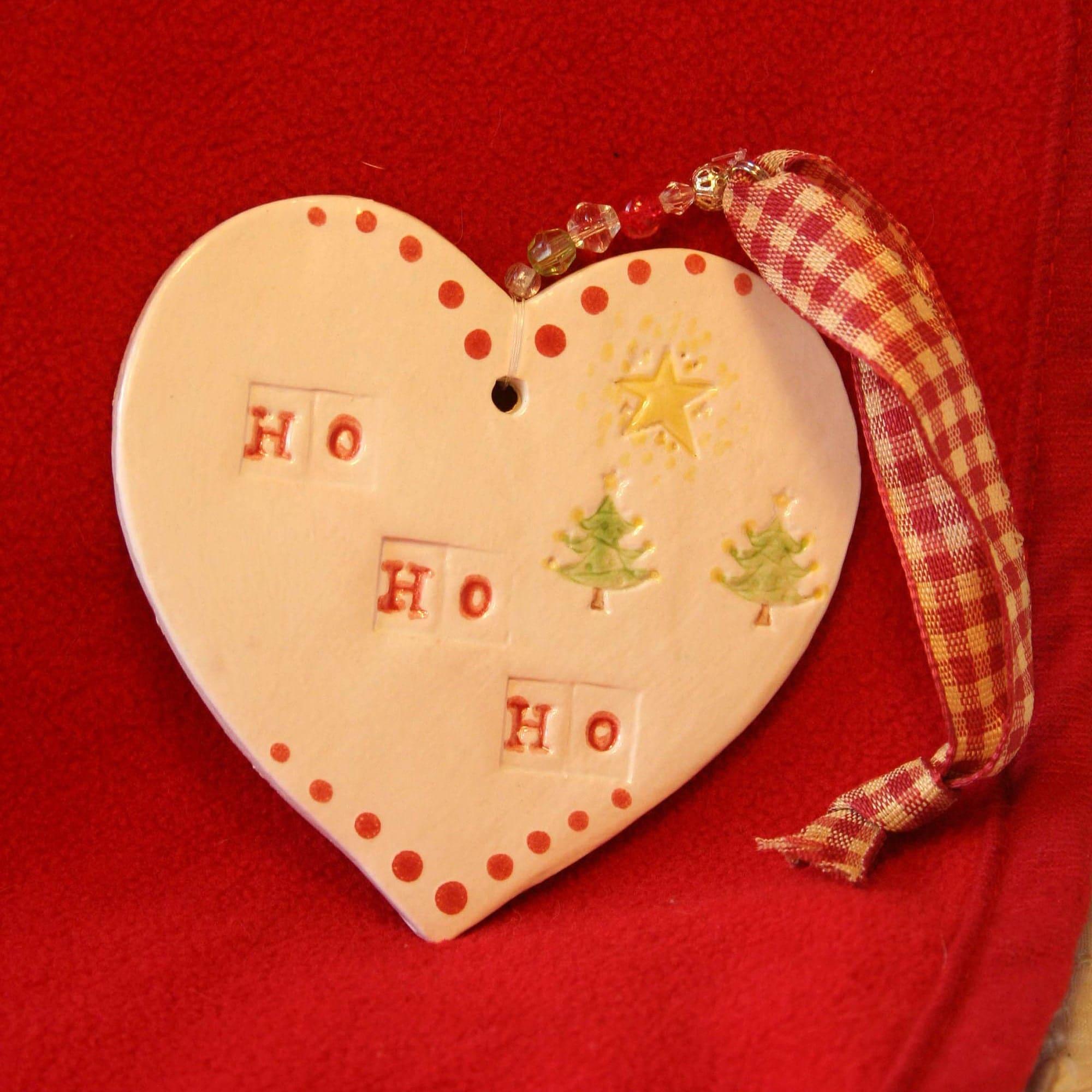 Ho Ho Ho, Merry Christmas, Heart Decoration, Xmas Tree Decor ...