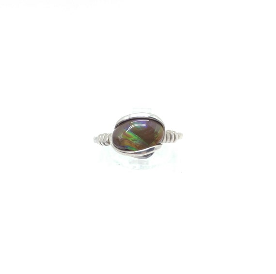 Rare Gemstone Ring | Fire Agate Ring | Handmade Sterling Silver Ring Sz 8 | Mexican Fire Agate Ring | Fire Agate Jewelry | Gift For Her
