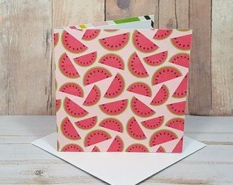 Watermelon Mini Cards, Watermelon Note Cards, Party Favors, Enclosure Cards, Blank Cards, Gift Enclosures, White Envelopes, Set of 4