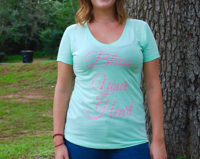Bless Your Heart Women's V-Neck Tee Shirt