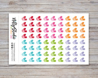 Pills Stickers | Medication Stickers | Planner Stickers | The Nifty Studio [148]