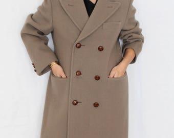 Double Breasted Wool Coat Women