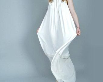White Maxi Dress, White Summer Dress, Plus Size Maxi Dress, Chiffon Dress, White Dress, Plus Size Summer Dress, Bohemian Dress, White Kaftan