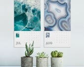 Mineral Photography Calendar 2018, Mineral Rocks, 2018 Calendar, Macro Photography, Wall Decor, Photo Calendar, Home Gifts, Printed Calendar