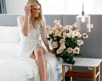 Lace Bridal Robe // Bridesmaid Robes // Robe // Bridal Robe // Bride Robe // Bridal Party Robes // Bridesmaid Gifts // Poppy
