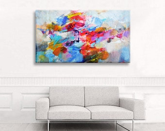 Abstract painting original acrylic, large canvas art living room, modern wall art canvas, living room wall decor, handmade acrylic painting