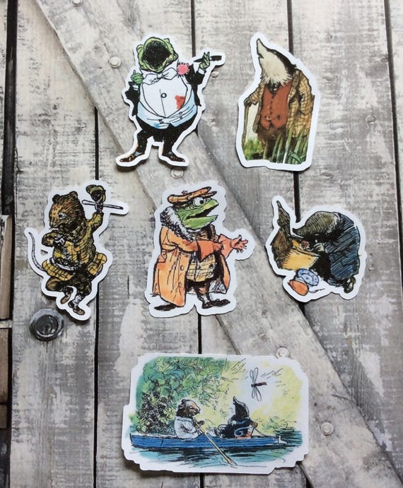 Paper Cut Outs-Wind in the Willows Characters,Die Cuts,Scrapbooking,Paper Embellishments,Die Cuts,Mr Toad Die Cuts,EH Shepard Illustrations