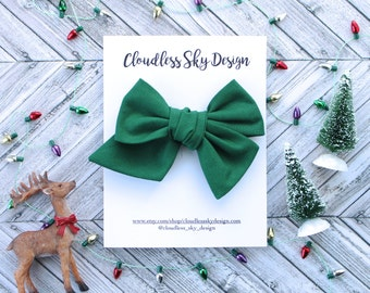green bow, hair bows, christmas bows, oversize bow, baby hair bow, hair bow for girls, toddler hair bow, bows for girls, holiday bow