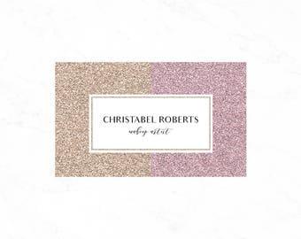 Luxury Glitter Business card design, Ombre glitter business card, Makeup artist business card
