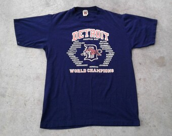 Vintage 80's 1984 Detroit Tigers World Champion t-shirt Logo 7 Inc.