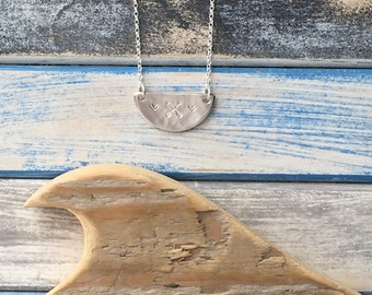 Friendship - handcrafted sterling silver bib necklace