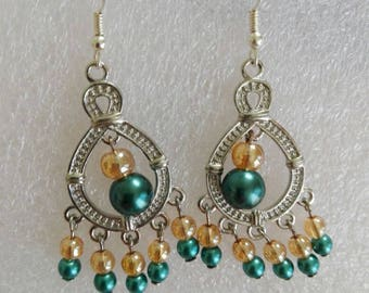 Earrings with Pearls - Jaguars