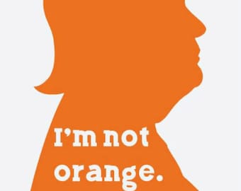Trump I'm Peach Impeach not orange bumper sticker/window decal