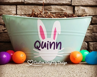 Personalized Easter Basket | Personalized Easter Bucket | Easter Bucket Girl | Easter Bucket Little Girl | Easter Basket Girl | Basket Gifts