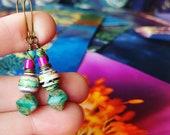 Kandinsky Art Calendar Paper Bead Earrings Color Stacks