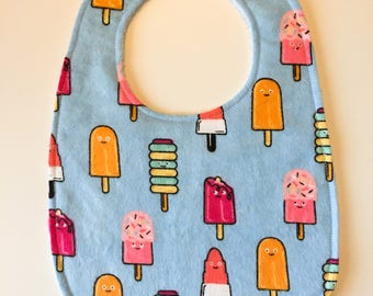 Ice Cream Baby Bib - Ice Cream Bib - Ice Cream Drool Bib