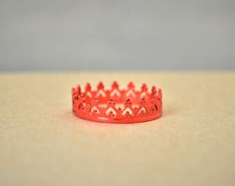Dainty Red Crown Ring, Red Princess Crown Ring, Princess Ring, Tiara Ring, Queen Ring, Red Ring, Red Princess Ring, Red Queen Ring, Red