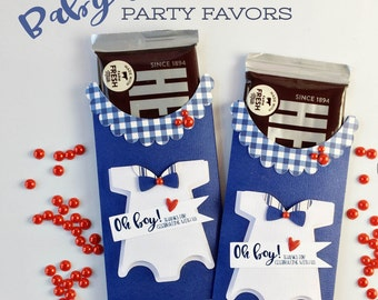 Kit Baby Boy Onesie Party Favor / Candy Bar Wraps / Thanks for coming / It's A Boyl / Hershey / Candy Bar Wrappers / Baby Shower Party