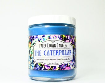 The Caterpillar Candle - Paper Crown Candles - Alice in Wonderland Candle