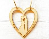 Small wood burned wedding sign | wooden wedding gift | wedding keepsake | wedding couple | pyrography | wedding quote