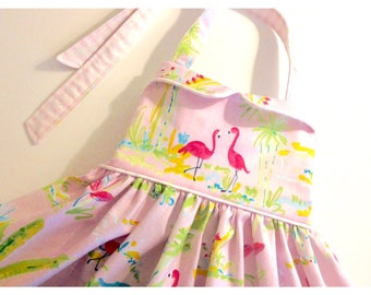 Pink Flamingo, Flamingo Dress, Flamingo Birthday, Girls Birthday Dress, Girls Dresses, Baby Girl Dresses, Girls Summer Dress