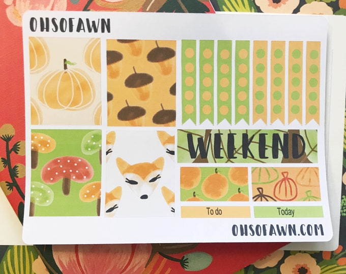 Fall Harvest Weekly Kit Stickers